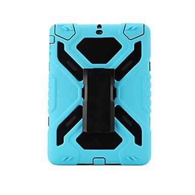 Pentru Apple ipad air 2 rezistent la șoc cu suport pentru banderolă de caz de culoare solidă hard PC cu silicon