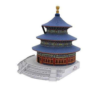 3D-puzzels Bouwplaat Modelbouwsets Speeltjes Vierkant Beroemd gebouw Chinese architectuur Architectuur tempel van de Hemel DHZ Hard Kaart
