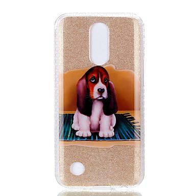 hoesje Voor LG IMD Patroon Achterkantje Hond Zacht TPU voor LG K10 (2017) LG K8 (2017)
