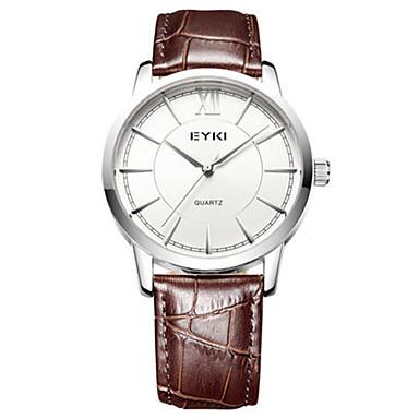Heren Modieus horloge Kwarts Waterbestendig PU Band Zwart Bruin
