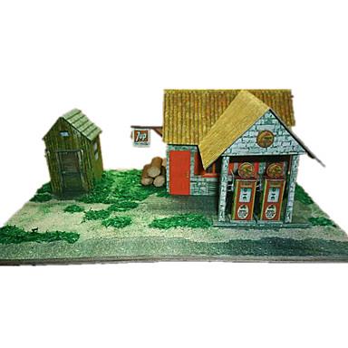 3D-puzzels Bouwplaat Modelbouwsets Papierkunst Speeltjes Beroemd gebouw Architectuur 3D DHZ Simulatie Unisex Stuks