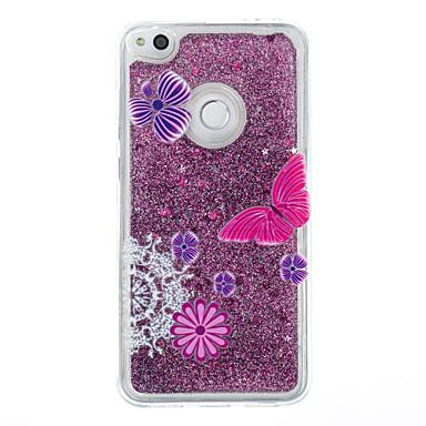 Für huawei p9 lite p8 lite Fallabdeckung Schmetterling Muster Blitz Pulver Treibsand tpu Material Telefon Fall p8 Lite (2017)