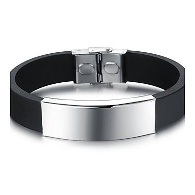 Heren / Dames Bangles - Roestvast staal Modieus Armbanden Zwart Voor Feest / Verjaardag / Feest / Uitgaan