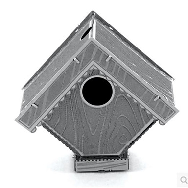 Aipin 3D-puzzels Legpuzzel Metalen puzzels Modelbouwsets Vogel Architectuur 3D Inrichting artikelen DHZ Roestvast staal Aluminium Metaal