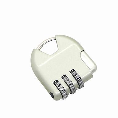 Metaal wachtwoord hangslot 3 cijfer wachtwoord anti-diefstal slot rugzak bagage compartiment boekje slot mini hangslot dail lock