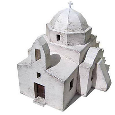 3D-puzzels Bouwplaat Modelbouwsets Papierkunst Speeltjes Vierkant Beroemd gebouw Architectuur 3D DHZ Hard Kaart Paper Unisex Stuks
