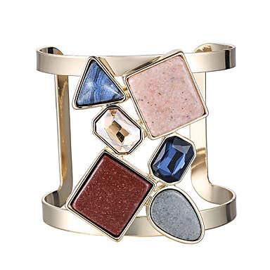 Damen Manschetten-Armbänder - Luxus Retro Natur Kreisform Gold Armbänder Für Party Party / Abend Verlobung