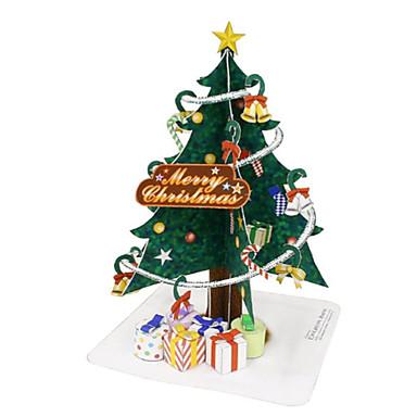 3D - Puzzle Weihnachtsbäume Papiermodelle Spielzeuge Weihnachten 3D Heimwerken Einrichtungsartikel Unisex Stücke