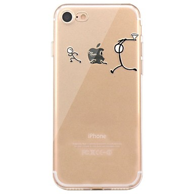 Hoesje voor iphone 7 6 spelen met appel logo tpu zacht ultra-dun behuizing hoesje iphone 7 plus 6 6s plus se 5s 5 5c 4s 4