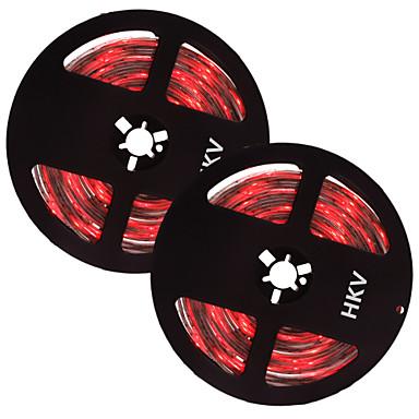 HKV 10m Fâșii De Becuri LEd Flexibile 300 LED-uri Alb Cald Alb Verde Ce poate fi Tăiat Rezistent la apă Auto- Adeziv 12V