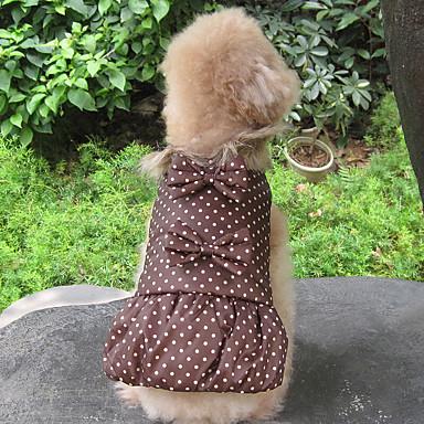Hond Jassen Hondenkleding Houd Warm Polka dot Zwart Koffie Groen Kostuum Voor huisdieren