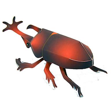 3D-puzzels Bouwplaat Modelbouwsets Papierkunst Speeltjes Vierkant 3D Insect Beetle DHZ Simulatie Tiener Stuks