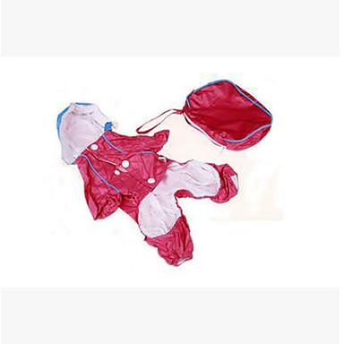 Câine Haină de ploaie Îmbrăcăminte Câini Mată Albastru Închis Rosu Verde Plastic Costume Pentru animale de companie Vară Bărbați Pentru