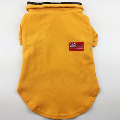 كلب T-skjorte ملابس الكلاب كاجوال/يومي صلب رمادي أصفر أخضر كوستيوم للحيوانات الأليفة