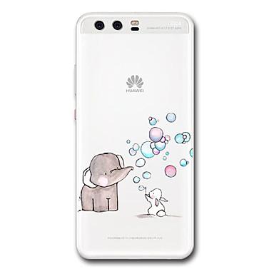 Maska Pentru Huawei Transparent Model Carcasă Spate Desene Animate Elefant Moale TPU pentru P10 Plus P10 P9 P9 Lite P9 Plus P8 P8 Lite