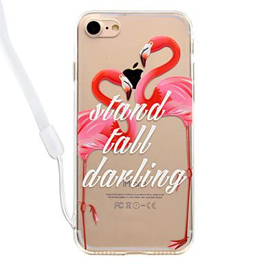 Hülle Für Apple iPhone 8 iPhone 8 Plus Transparent Muster Rückseite Flamingo Hart Acryl für iPhone 8 Plus iPhone 8 iPhone 7 Plus iPhone 7
