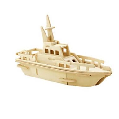 Puzzle 3D Puzzle Modelul lemnului Jucarii Navă Militară Leu 3D Reparații Lemn Lemn natural Unisex Bucăți