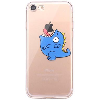 Für iPhone X iPhone 8 Hüllen Cover Transparent Muster Rückseitenabdeckung Hülle Spaß mit dem Apple Logo Cartoon Design Weich TPU für Apple