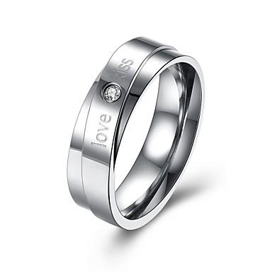 Damen Ring Kubikzirkonia Personalisiert Luxus Geometrisch Einzigartiges Design Klassisch Retro Strass Böhmische Grundlegend Herz Kreis