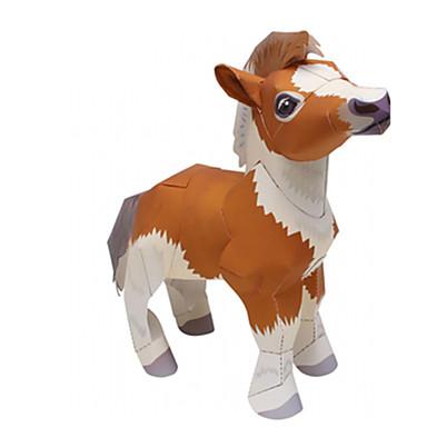 3D-puzzels Bouwplaat Papierkunst Modelbouwsets Paard Dieren Simulatie DHZ Hard Kaart Paper Klassiek Kinderen Jongens Unisex Geschenk
