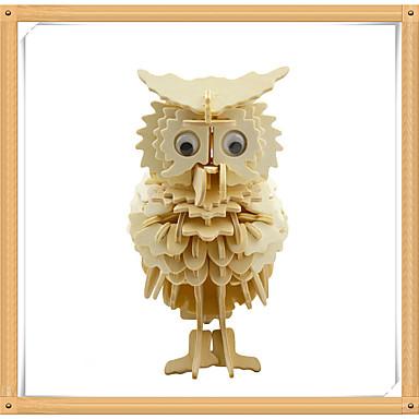 3D-puzzels Legpuzzel Houten modellen Modelbouwsets Eend Eagle Uil 3D Dieren DHZ Puinen Hout Kinderen Geschenk