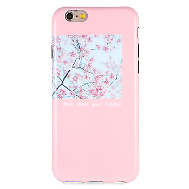 Hülle Für Apple iPhone 7 Plus iPhone 7 Muster Rückseite Blume Weich TPU für iPhone 7 Plus iPhone 7 iPhone 6s Plus iPhone 6s iPhone 6 Plus
