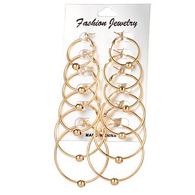 للمرأة أقراط طارة حجر الراين تصميم دائري سبيكة مجوهرات ذهبي فضي زفاف حزب يوميا فضفاض مجوهرات