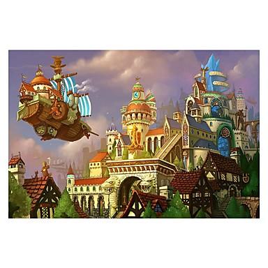 Holzpuzzle Burg Chinesische Architektur Zeichentrick Hölzern Holz Anime 6 Jahre alt und höher