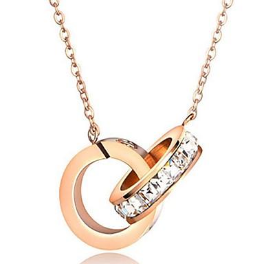 للمرأة قلائد الحلي مجوهرات Geometric Shape الصلب التيتانيوم هندسي مجوهرات من أجل عيد ميلاد مناسبة / حفلة لباس يومي الغير