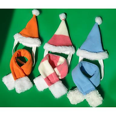 Pisici Câine Bandane & Pălării Îmbrăcăminte Câini Crăciun Dungi Verde Albastru Deschis Leopard