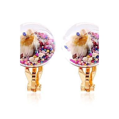 Damen Ohrstecker Klips Kugel-Ohrringe Blumig Blumen Stil Regenbogen Blumen Kreis Multi-Wege Wear Modisch Rock Harz Blume Schmuck Klub