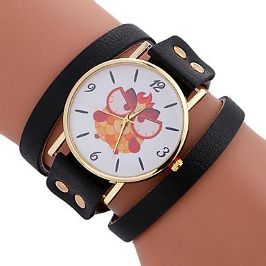 Damen Einzigartige kreative Uhr Armband-Uhr Modeuhr Sportuhr Armbanduhren für den Alltag Quartz Leder Band Charme Luxus Kreativ Freizeit