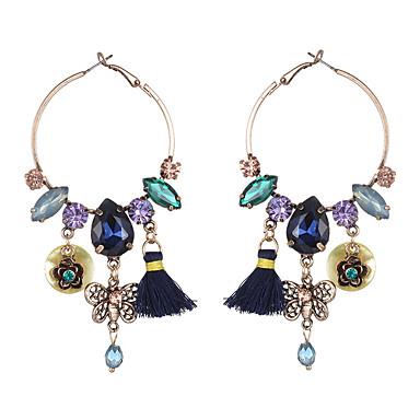 Dames Druppel oorbellen Synthetische Diamant Natuur Cirkel Vriendschap oversteekplaats Hip-hop Gothic Opvallende sieraden Sierstenen