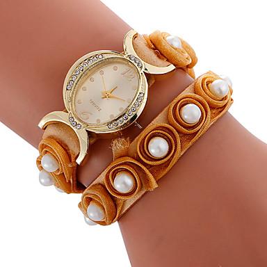 Damen Sportuhr Modeuhr Einzigartige kreative Uhr Armbanduhren für den Alltag Armband-Uhr Quartz Stoff BandBettelarmband Kreativ Luxuriös