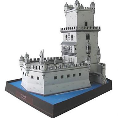 3D-puzzels Bouwplaat Vierkant Toren Beroemd gebouw Architectuur DHZ Hard Kaart Paper Unisex Geschenk
