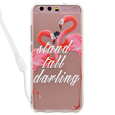 Maska Pentru Huawei P9 Lite Huawei Huawei P8 Lite Transparent Model Capac Spate Transparent Flamingo Greu Teracotă pentru P10 Lite P10