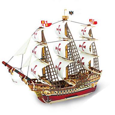 Robotime قطع تركيب3D تركيب النماذج الخشبية مجموعات البناء سفينة حربية سفينة 3D اصنع بنفسك خشب كلاسيكي 6 سنوات فما فوق
