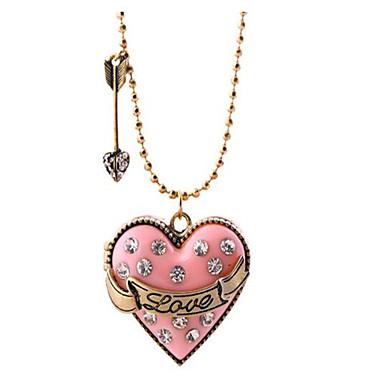 Dames Hangertjes ketting Medaillon Hartvorm Legering Gepersonaliseerde Liefde Modieus Sieraden Voor Anders >> Dagelijks Causaal