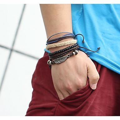 Heren Dames Lederen armbanden Vintage Leder Geometrische vorm Sieraden Casual/Dagelijks Kostuum juwelen