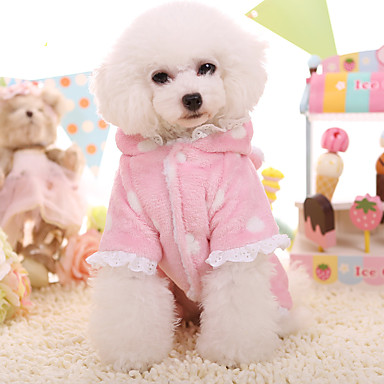 Hund Kapuzenshirts Hundekleidung warm halten Spitze Blau Rosa
