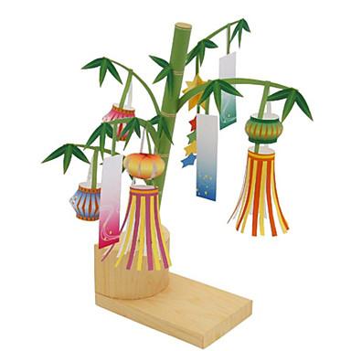 Puzzle 3D Lucru Manual Din Hârtie Felinar Bambus Articole de mobilier Reparații Bambus Clasic Unisex Cadou