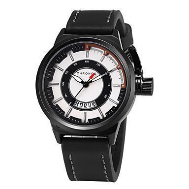 Bărbați Ceas Elegant Ceas La Modă Quartz Piele Bandă Creative Casual Negru Maro