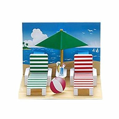 3D - Puzzle Papiermodel Strand Spielzeug Papiermodelle Modellbausätze Rechteckig 3D Heimwerken Klassisch Alle Altersgruppen