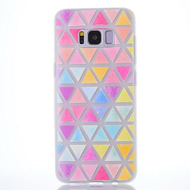 غطاء من أجل Samsung Galaxy S8 Plus S8 مثلج شبه شفّاف نموذج غطاء خلفي نموذج هندسي ناعم TPU إلى S8 S8 Plus