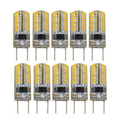 YWXLIGHT® 10pcs 3W 200-300 lm Becuri LED Bi-pin T 64 led-uri SMD 3014 Decorativ Alb Cald AC 110V