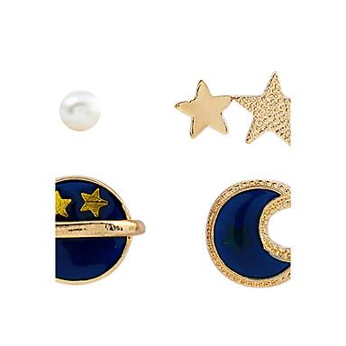 Pentru femei Cercei Stud Cercei Rotunzi  Personalizat Vintage Adorabil Imitație de Perle Imitație de Perle Aliaj Metalic Crom Șifon Satin