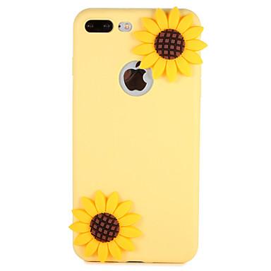 Fall für Apfel iphone 7 plus 7 Abdeckungsmuster rückseitige Abdeckungsfallblume 3d Karikatur weiches Silikon 6s plus 6 5 5s