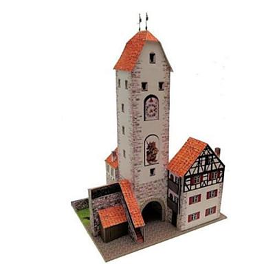 3D-puzzels Bouwplaat Papierkunst Modelbouwsets Toren Beroemd gebouw Architectuur 3D DHZ Klassiek Unisex Geschenk