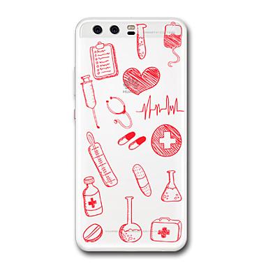 Coque Pour Huawei P9 / Huawei P9 Lite / Huawei P8 Transparente / Motif Coque Cœur Flexible TPU pour P10 Plus / P10 / Huawei P9 Plus