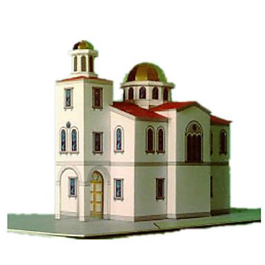 Puzzle 3D Modelul de hârtie Lucru Manual Din Hârtie Μοντέλα και κιτ δόμησης Clădire celebru Biserică Arhitectură 3D Reparații Hârtie